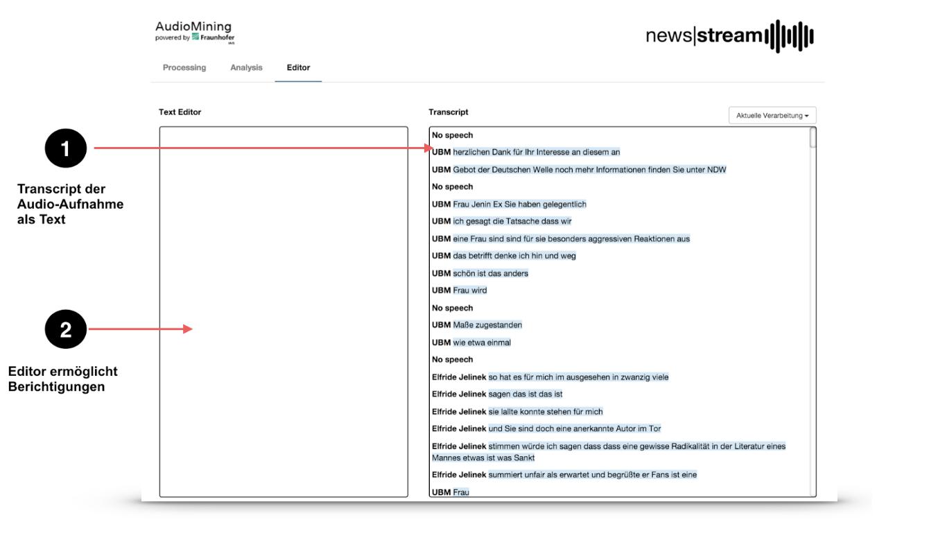 Fraunhofer AudioMining Editor
